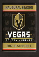 Vegas Golden Knights--2017-18 Pocket Schedule--Foley Johnson
