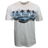 FORD Mens Tee T Shirt Classic American Muscle Cars Racing Logo Vintage USA Beach