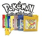 GBC Pokemon Spiele Silber Kristall Gold/Gelb/Grün/Blau/Rot Gameboy Color GBA NEU