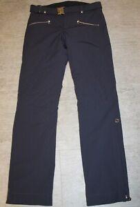 Bogner Franzi 2 Ladies Ski Pants Navy Blue With Belt Size 68, L4 Long Size 34