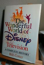 The Wonderful World of Disney Television SIGNED by Bill Cotter 1st/HC