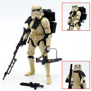 """Star Wars Black Series Black Shoulder Sandtrooper 6"""" Action Figure Toy No Box"""