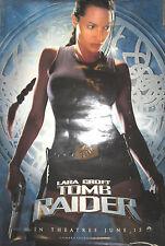 LAURA CROFT TOMB RAIDER 2-sided promo poster, 2001, 27x40, VG, Angelina Jolie