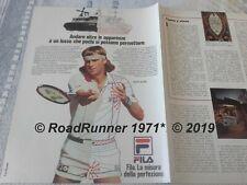 Björn BJORN BORG_FILA Sportswear_pubblicità originale del 1982_advertising