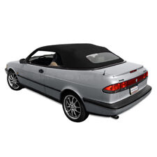 Saab 900S/SE Convertible Top 95-96 in Black Stayfast Cloth, Glass Window