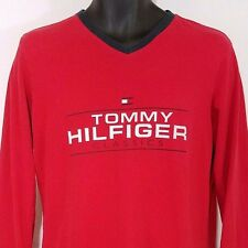 Tommy Hilfiger Womens T Shirt Vintage 90s 3/4 Sleeve Spell Out USA Size Medium