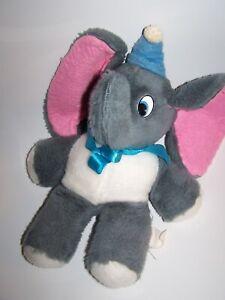 VINTAGE 1960s Disney Plush Dumbo Stuffed Elephant