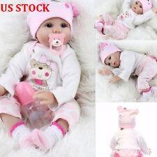 22'' Handmade Lifelike Newborn Silicone Vinyl Reborn Baby Doll Full Body Gift