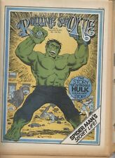 Rolling Stone magazine #91 Hulk cover Inside marvel comics 6 page article