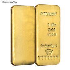 1 Kilo Metalor Gold Bar .9999 Fine