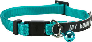 1 Trixie Write On Aqua My Home Safety Cat Collars  Bell No Pet Tags Needed