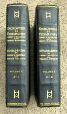 1917 TWO VOLUME SET ENCYCLOPEDIA OF FREEMASONRY ILLUSTRATED GILDED EXC CONDITION