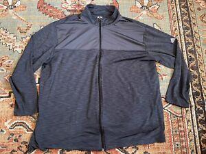 Adidas Full Zip Sweater Men's 3XL Golf Comfortable Light Grey XXXL