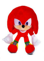 "OFFICIAL SONIC THE HEDGEHOG KNUCKLES 12"" LARGE PLUSH SOFT TOY TEDDY NEW WITH TAG"