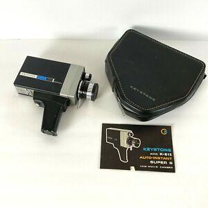 Vintage Keystone K-615 Auto Instant Super 8 Reflex Zoom Movie Camera Collector