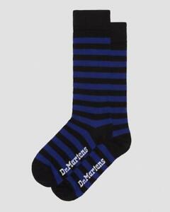 Dr Martens THIN STRIPE SHORT SOCKS, BLUE+BLACK COTTON, S