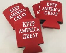 Trump 2020 Keep America Great KooZies Lot 5 Red Can Cooler Coozie