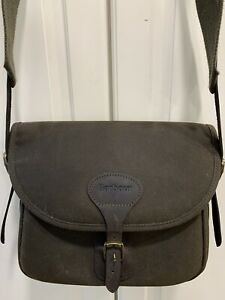 Barbour Waxed Brown Leather Detail Shoulder Crossbody Saddle Cartridge Bag BNOT