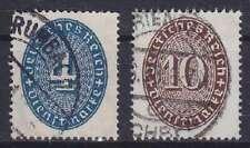 DR Dienst MI Nr. 130, 131, gest., Dienstmarken Deutsches Reich, used