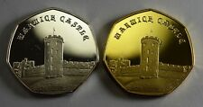 More details for pair of warwick castle commemoratives. 24ct gold. silver. albums/collectors 2019