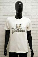 Maglia YANKEES Uomo Taglia Size M Maglietta Shirt Man Manica Corta Cotone Bianco