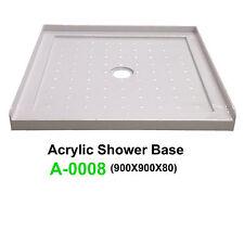 NEW Acrylic Shower Base SANYC A-0008 900*900*80 3 Lip Tile Flange Acrylic