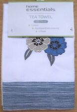 New EMBROIDERED APPLIQUE (1x) COTTON TEA TOWEL Gift Kitchen Dish Cloth - in Aus