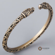 VIKING BRACELET WITH DRAGON'S HEAD VIKING JEWELRY ARM RING BRONZE