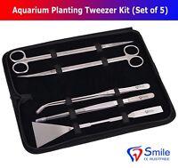 Pro Deluxe Aquarium Tools Kit Tank Aquatic Plant Fish 5 PCS Kit Smile Dentale CE