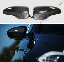 PAIR DIRECT ADD ON CARBON FIBER SIDE MIRROR COVERS CAPS FOR 2012-2015 BMW F10 M5