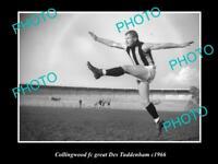 OLD POSTCARD SIZE PHOTO OF COLLINGWOOD FC GREAT DES TUDDENHAM c1966 1