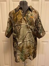 Men's Under Armour Short Sleeve Polo Shirt RealTree Camo Pattern - Large