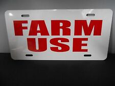 FARM USE METAL LICENSE PLATE FARMTRUCK TRACTOR JOHN DEERE INTERNATIONAL TRUCK