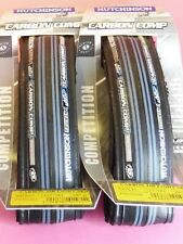 Two Hutchinson Carbon Comp. 700x23 Folding bicycle tyres  - NOS