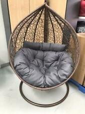 mocha brown egg chair with extra large cushion - plus free original cushion