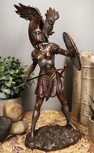 "Ebros Athena Minerva With Wise Owl Statue Goddess Of Wisdom Sculpture 12""H"