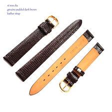 Grano de serpiente de cuero genuino reloj correa negro marrón 14mm 16mm 18mm 20mm