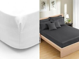 500 Thread Count 100% Pure Egyptian Cotton 28cm Deep Fitted Sheets