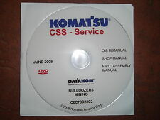 KOMATSU D375A D475S D575A MINING BULLDOZERS DOZER SERVICE SHOP REPAIR MANUAL CD
