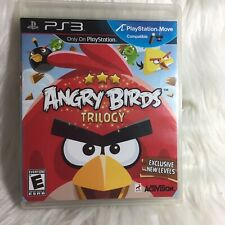 ANGRY BIRDS TRILOGY Playstation 3 PS3 Complete w/ Manual CIB Good