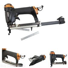 Air Pneumatic Stapler Upholstery Staple Gun Professional Fine Wire Stapler Tool
