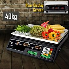 ELECTRONIC DIGITAL COMPUTING PRICE WEIGHT KITCHEN POSTAL FOOD TRADE SCALE 40KG