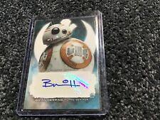 Star Wars The Last Jedi Bb-8 Autograph auto Brian Herring
