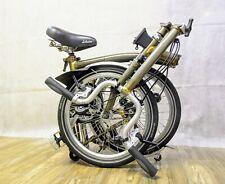 Brompton M3L 3-Speed Folding Bicycle Raw Laquer