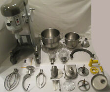 Hobart H600 60 Quart Commercial Mixer With Accessories Bowls Beaters Grinder Hook