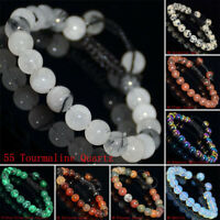 8mm Natural Gemstones Braided Macrame Beads Bracelet Adjust Handmade 70 Styles