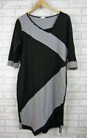 Birdkeepers Dress Black, white print 3/4 sleeves Stretch style