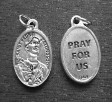 "St Pedro Calungsod  / Pray for Us   Oxidized Medal (7/8"" x5/8"")"