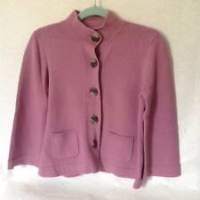 J. Jill  Cotton blend Long Sleeve Button Down Carigan sweater lavender S petite