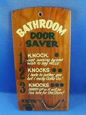 BATHROOM DOOR SAVER FUNNY WOOD PLAQUE VINTAGE JAMAICA SOUVENIR TOO LATE FOR SHOW